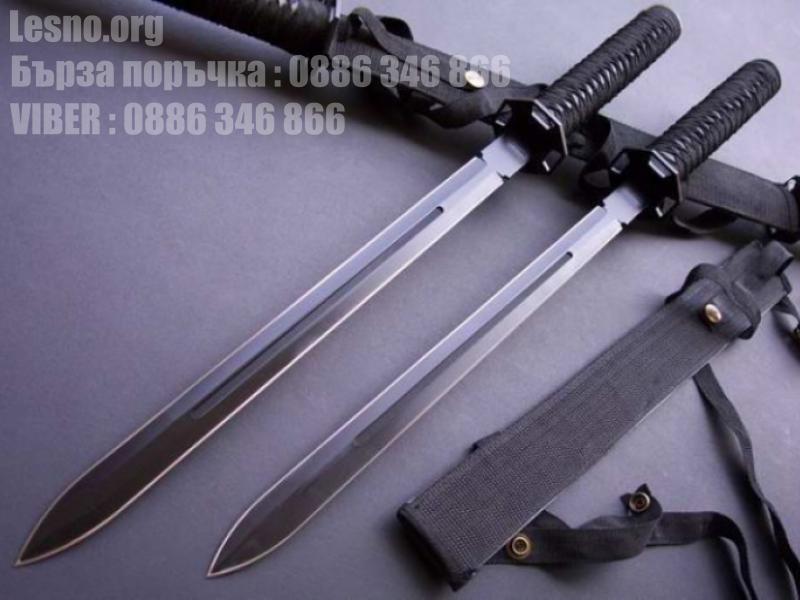 Самурайски меча два броя в черен калъф