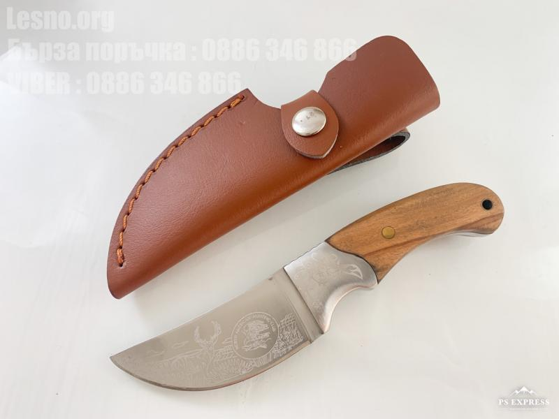 USA Hunting Club Knife Ловен нож масивен фултанг с кожена кания