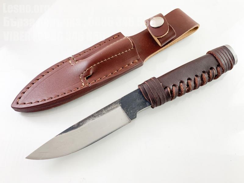 Ловен нож ръчно кован от цяло парче стомана фултанг много здрав