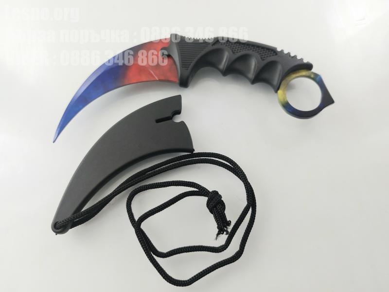 CS GO - Шарен   karambit карамбит нож за тренировка начинаещи незаточен