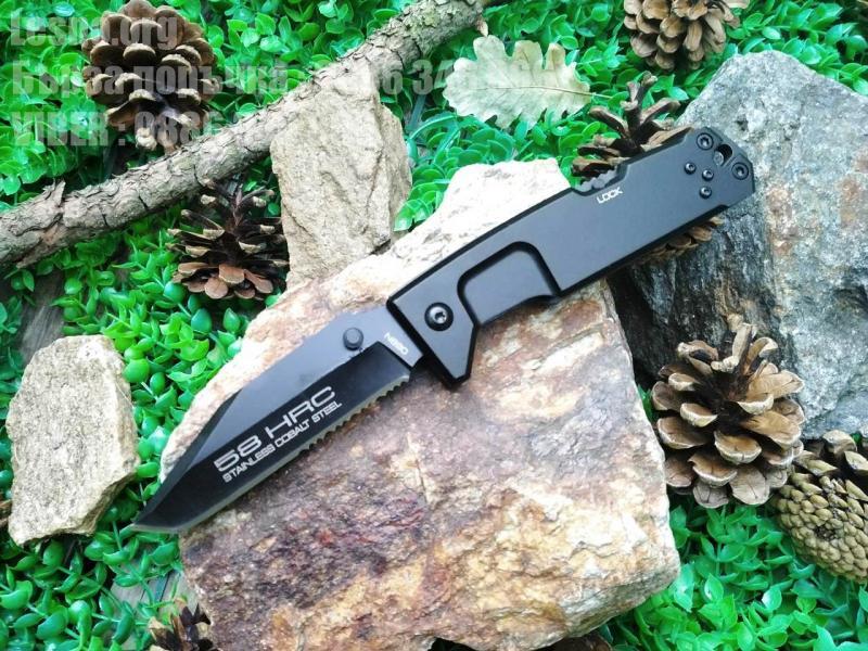 Сгъваем джобен нож с една втора назъбено острие  Extrema Ratio Fulcrum II