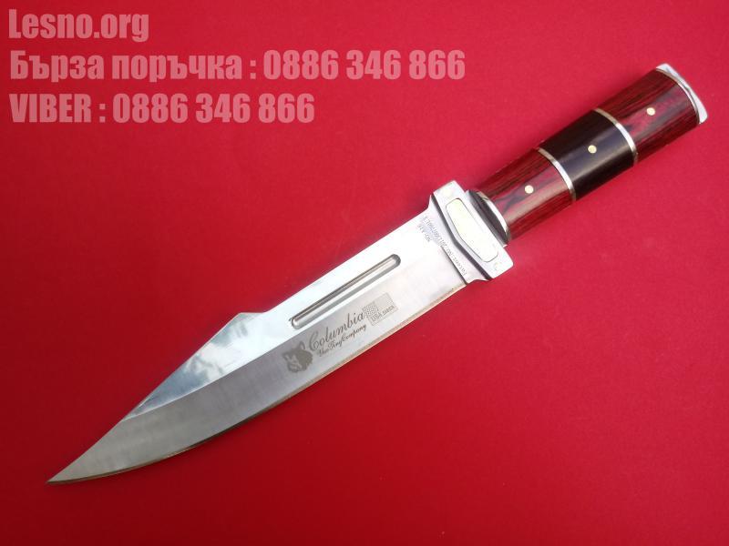 Колекционерски ловен нож с красива дървена дръжка-Columbia A16