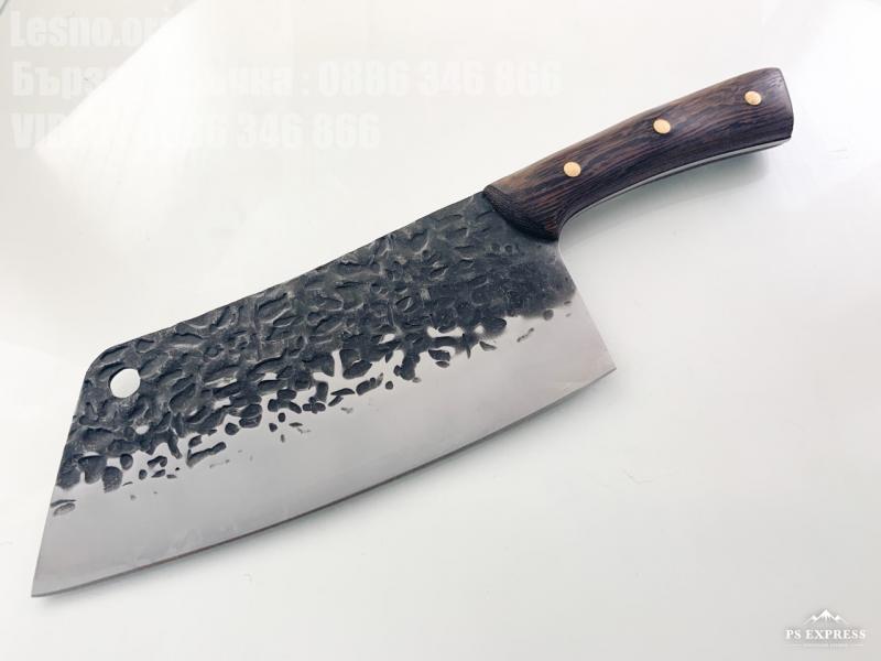 Ръчно направен кухненски сатър кован фултанг за месо и риба
