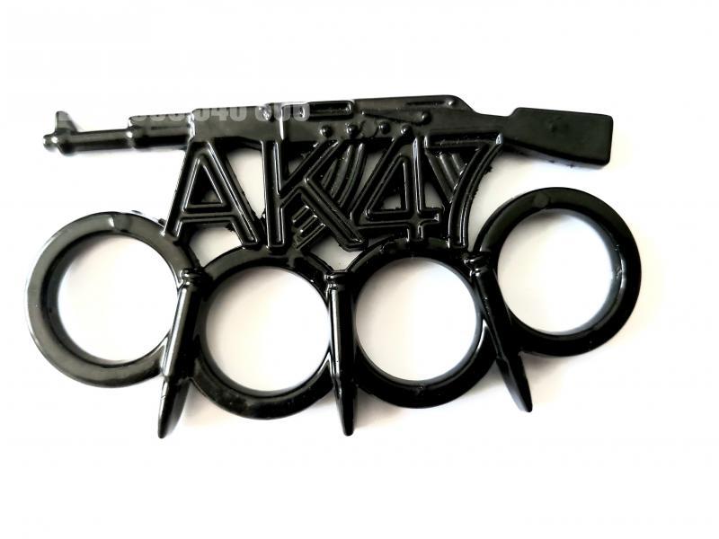 Масивен метален бокс с черно тефлоново покритие за самозащита или колекция АК-47