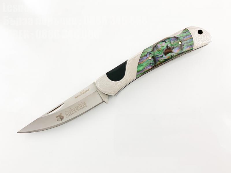 Сгъваем джобен нож голям и масивен с Columbia 260