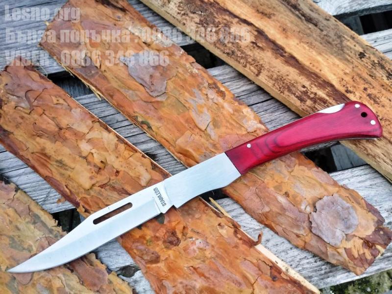 Голям джобен сгъваем нож с блокираща пластина отгоре на дръжката