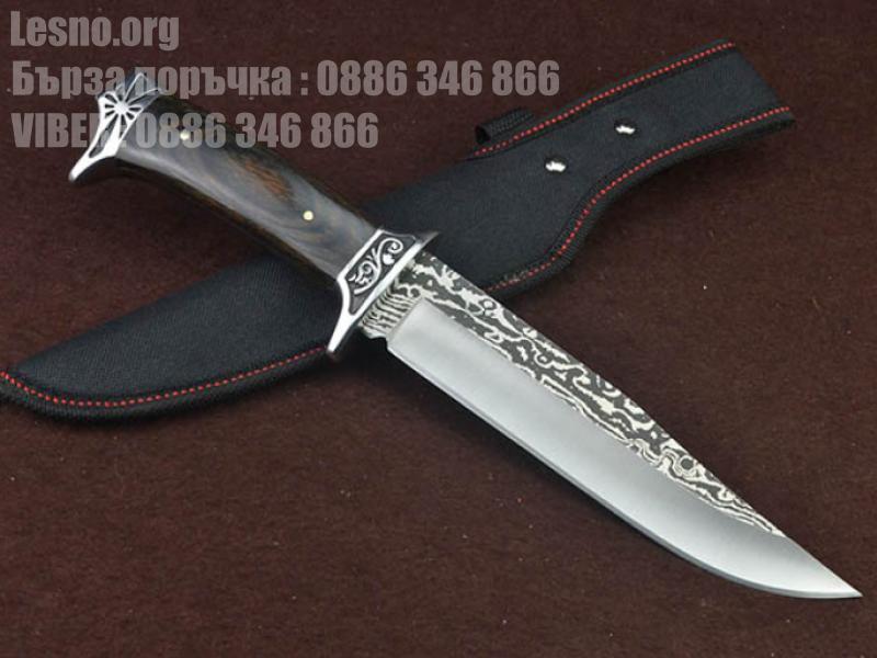 Ловен нож columbia sa42 с метален гравиран гард