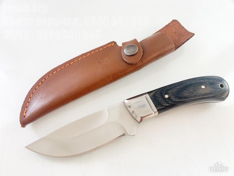 USA Sanjia Knife Ловен нож масивен фултанг с кожена кания