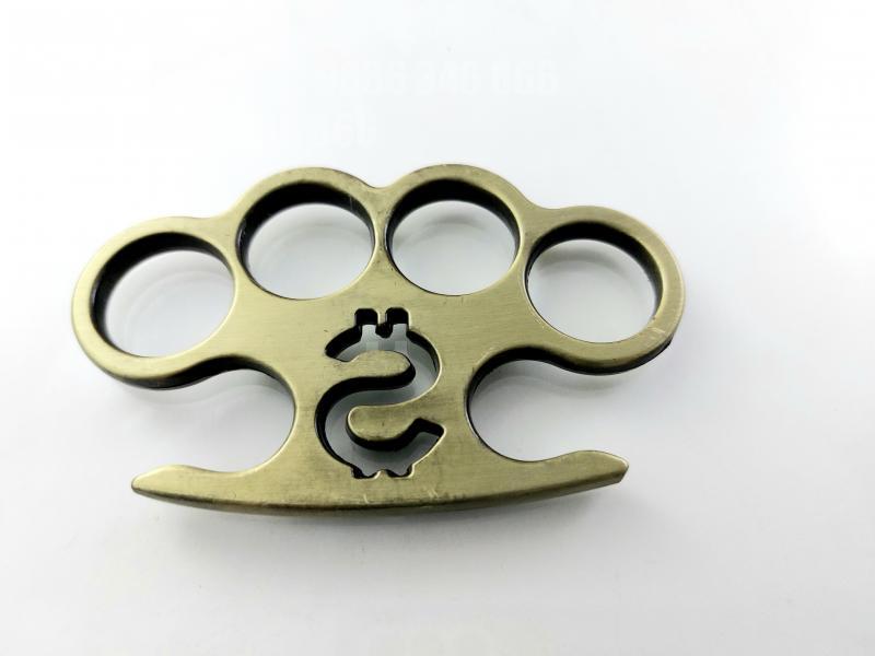 Масивен метален винтидж бокс за самозащита или колекция с гравиран долар