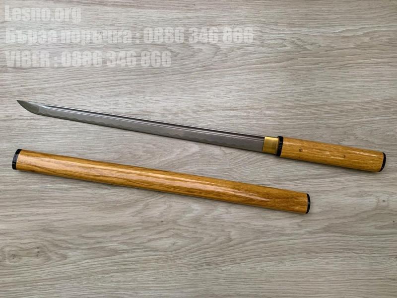Ръчно изкован самурайски меч от дамаска стомана