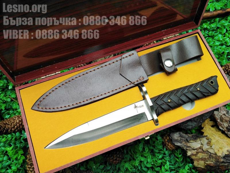 Ловен нож масивен и прецизно направен ,само за ценители-Marfione Custom Knives
