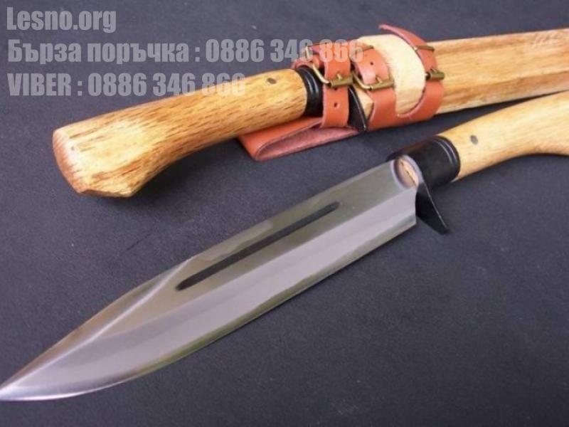 Ръчно направен ловен нож от кована високо-въглеродна стомана