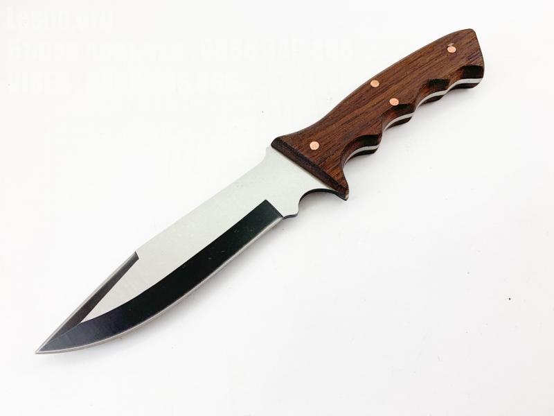 Ловен нож ръчна изработка с дървена дръжка код 1017