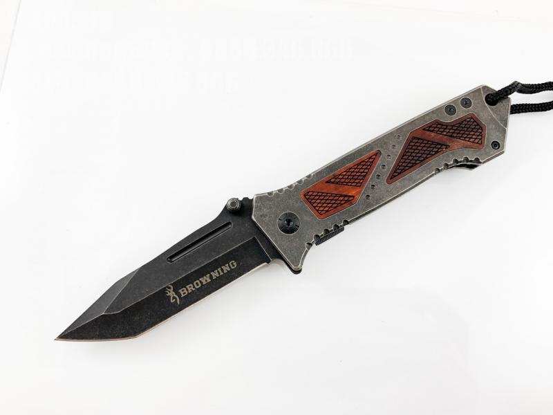 Сгъваем автоматичен нож с иниксово покритие и танто острие Browning