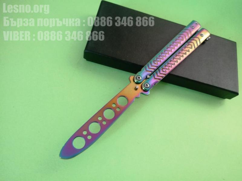 Тренировъчен сгъваем джобен нож пеперуда/Butterfly-модел 1