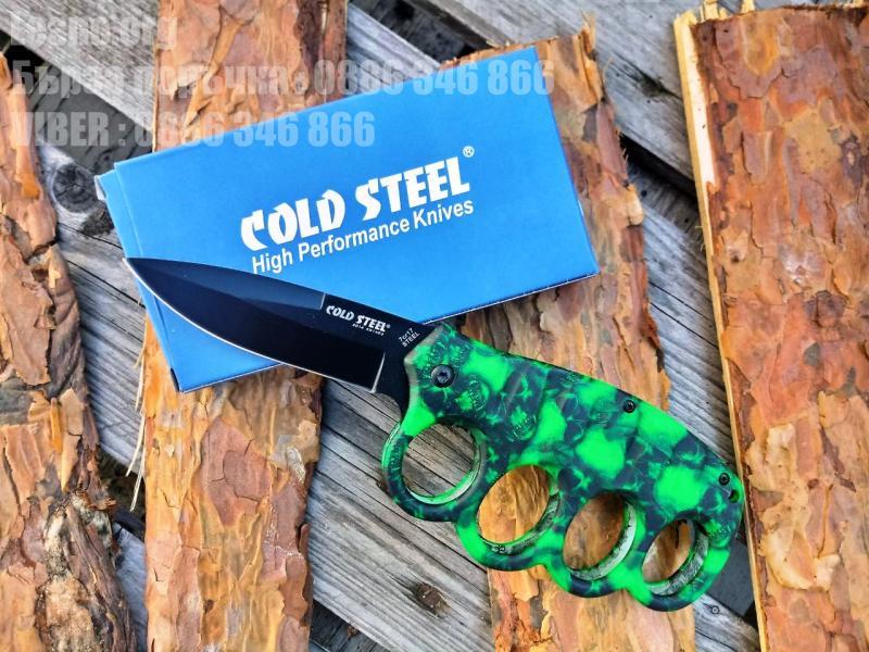 Сгъваем нож с бокс COLD STEEL фосфорно зелени черепи
