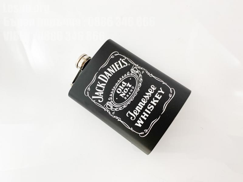 Манерка с лого Jack Daniels black steel