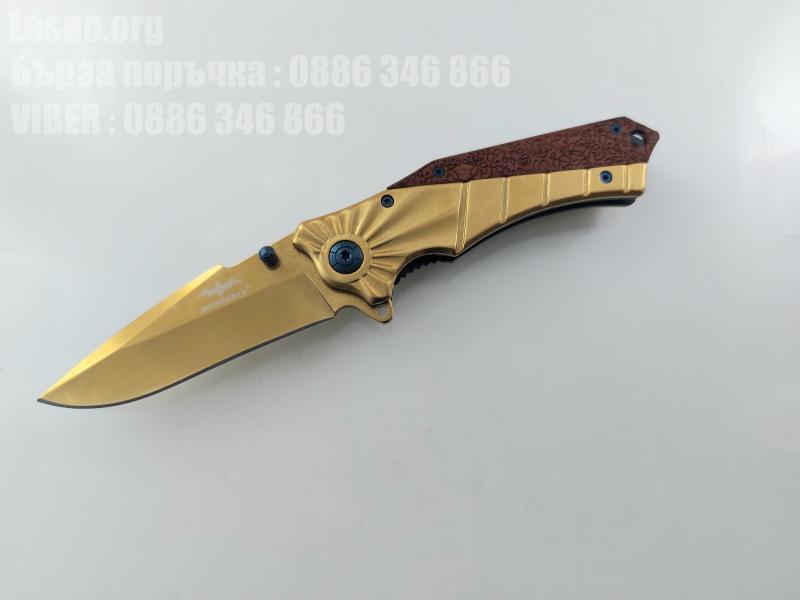 Mossout pocket knife Сгъваем автоматичен джобен нож златисто острие