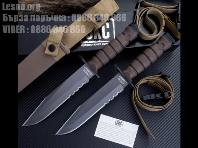 Тактически нож Military Combat Knife Ontario OKC3S Fixed Blade Hunting Tactical Knife
