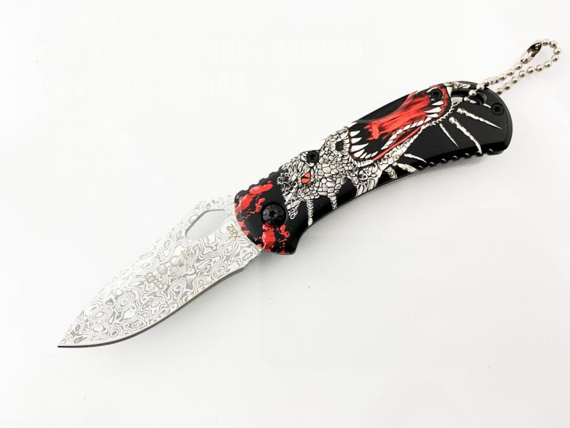 Сгъваем джобен нож с рисунка на червен дракон Buck X82