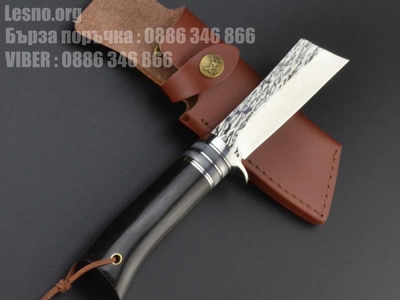 Ловен нож ръчна изработка от кована стомана