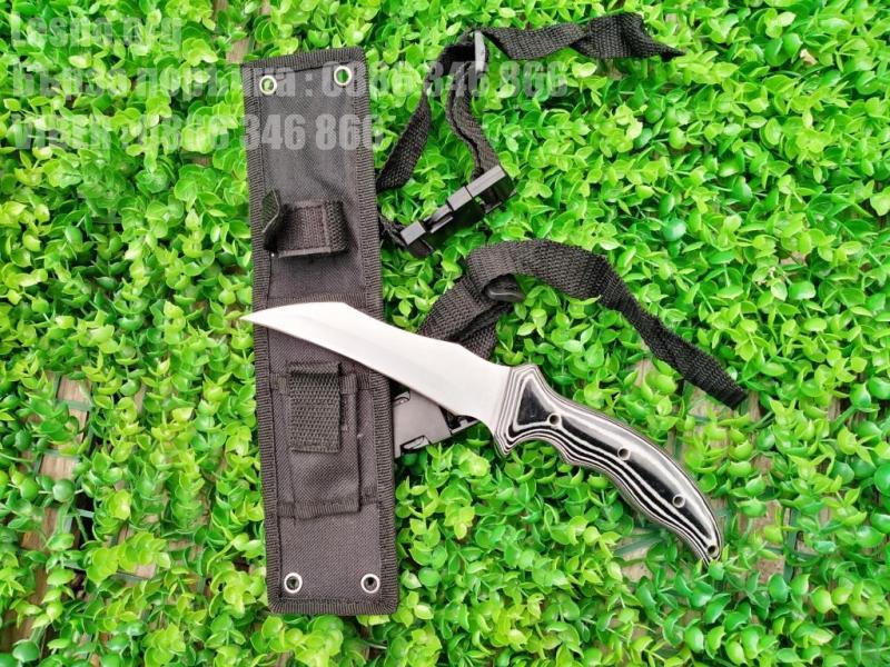 Ловен нож от масивна закалена стомана дръжка микарта