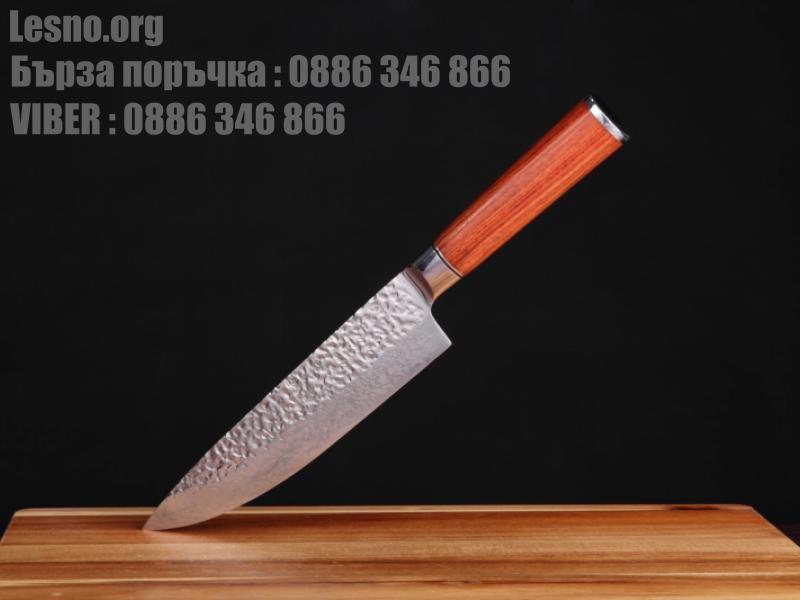 Професионален кухненски нож - Дамаска стомана-Chef Knife за месо