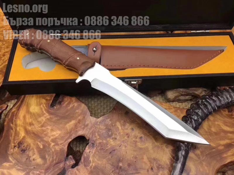 Ловен нож от масивна закалена стомана Fox knife