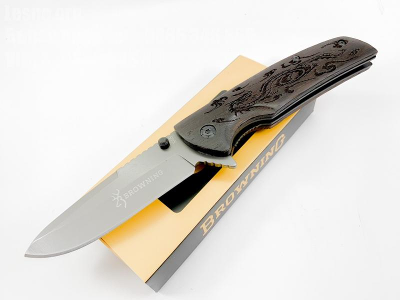 Browning X45 - сгъваем полуавтоматичен джобен нож с клипс за колан