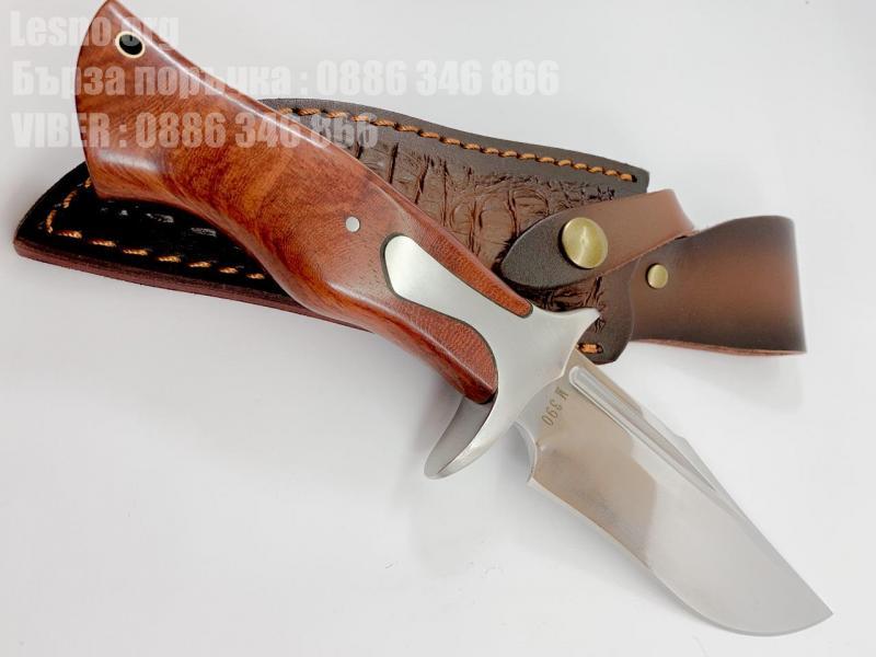 Масивен ловен нож от закалена стомана М390