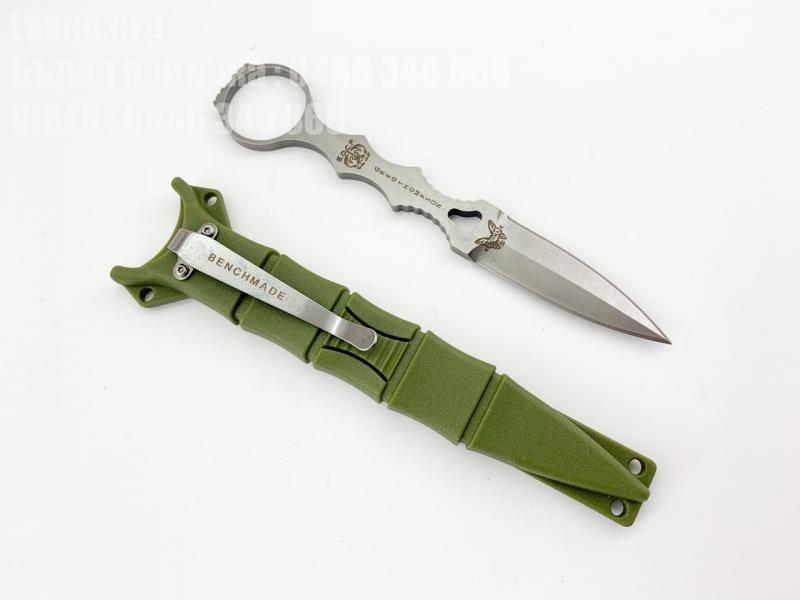 Тактически нож Benchmade 176 , зелен калъф от kydex