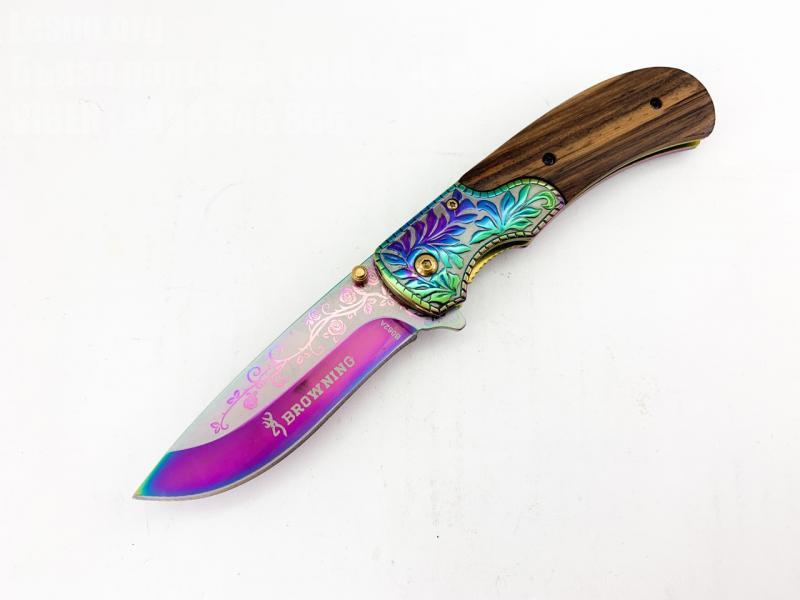 Сгъваем автоматичен нож  метален и масивен Browning B062A