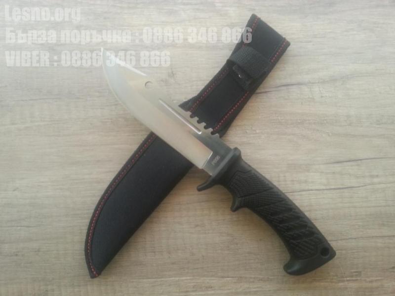 Масивен стоманен ловен нож с фиксирано острие - Columbiq