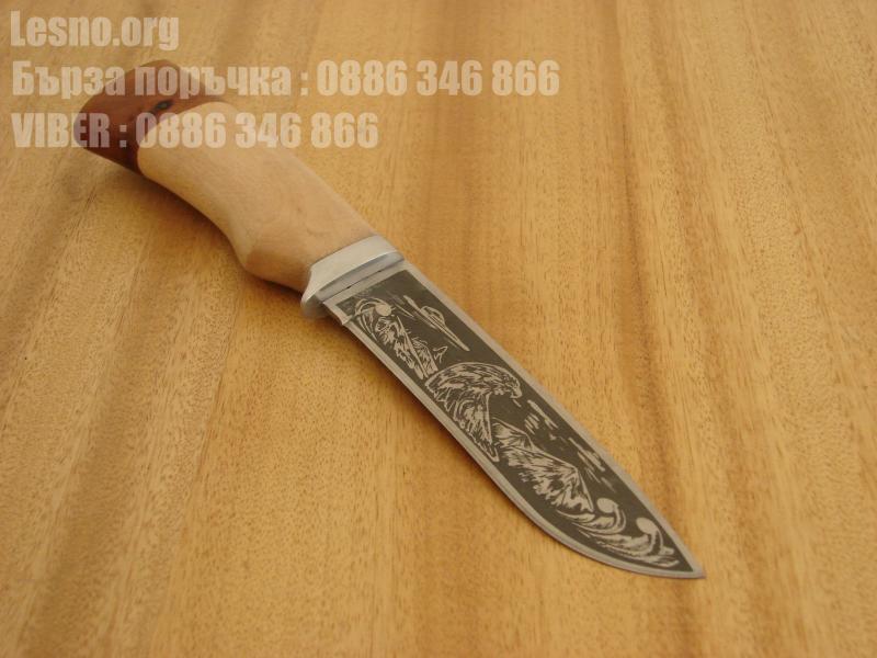 Руски ловен нож с дървена дръжка - Сокол