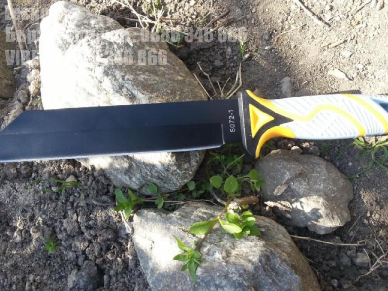 Компактно мачете с тефлоново покритие и дръжка от гума и пластмаса