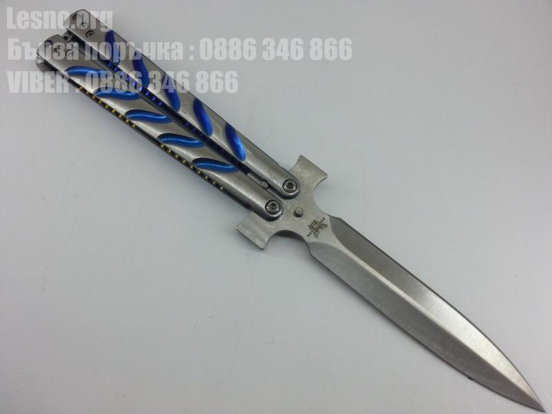 Benchmade butterfly knife нож пеперуда едностранно заточен