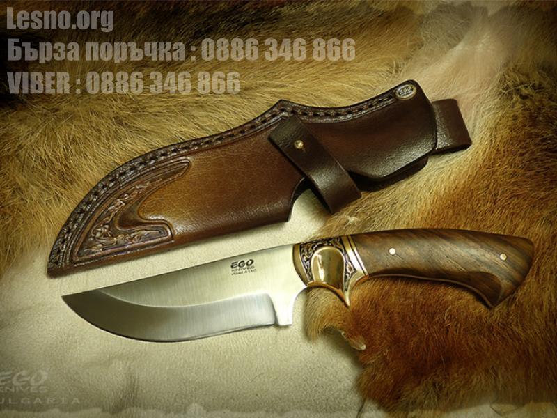 Ловен нож подходящ за дране на дивеч с фикрирано острие и фултанг конструкция