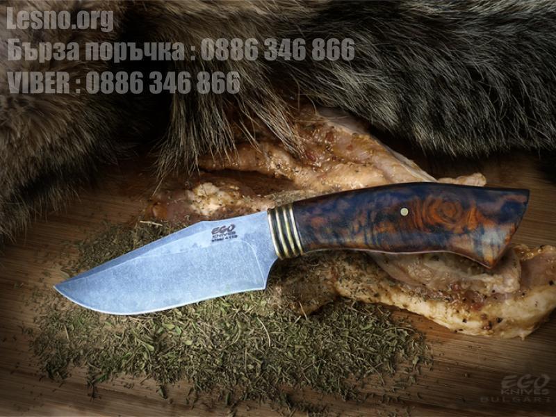 Ръчна изработка на красив ловен нож подходящ за дране с фикрирано острие и фултанг конструкция