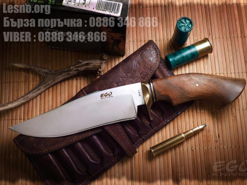 Масивен удобен стоманен ловен нож с дръжка форма на копито
