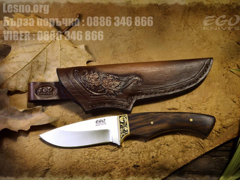 Малък нож за дране ръчна изработка с дръжка от турски орех