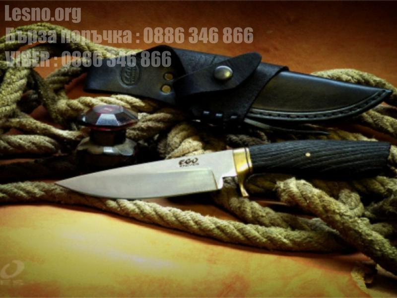 Великолепен добре балансиран ловен нож с изчистени линии - ръчна изработка