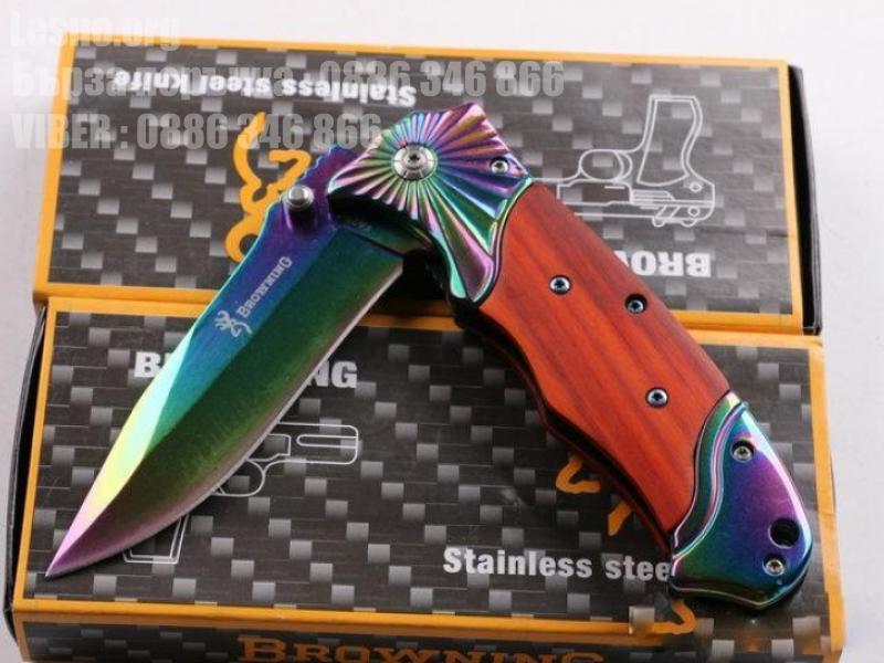 Красив сгъваем нож снабден с острие от високо въглеродна стомана