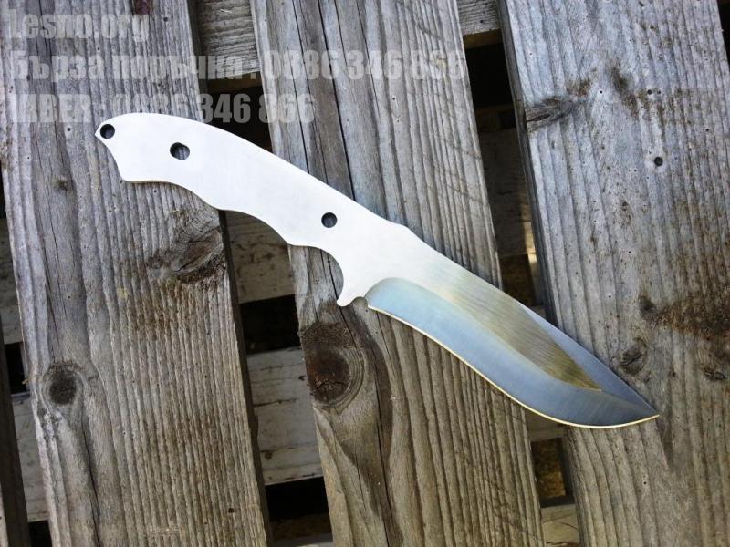 Закалена наточена заготовка за ловен нож -стомана 440С